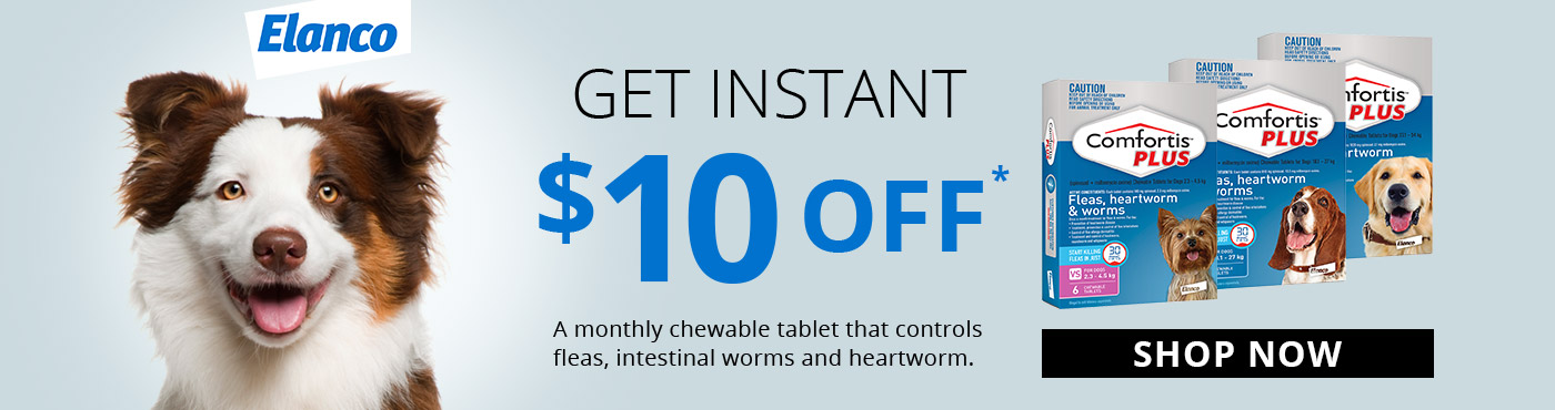 Get Instant $10 Off* on Comfortis Plus