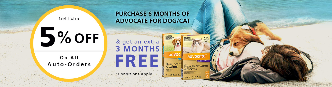 Purchase 6 Months of Advocate for Dog/Cat & get an extra 3 Months