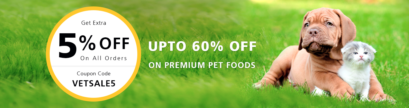 Upto 60% Off on top pet foods