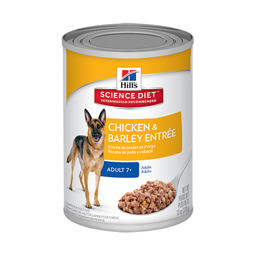 Hill's Science Diet Adult 7+ Chicken & Barley Entrée Canned Dog Food 370 Gm