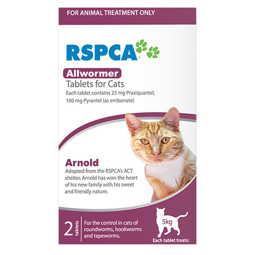 RSPCA Allwormer for Cats (Purple)