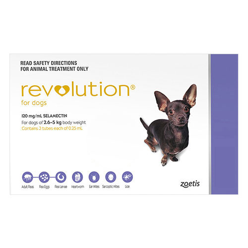 Revolution For Very Small Dogs 2 To 5Kg (Purple)