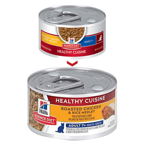 Hill's Science Diet Adult 7+ Healthy Cuisine Chicken & Rice Medley Canned Cat Food  79 Gm
