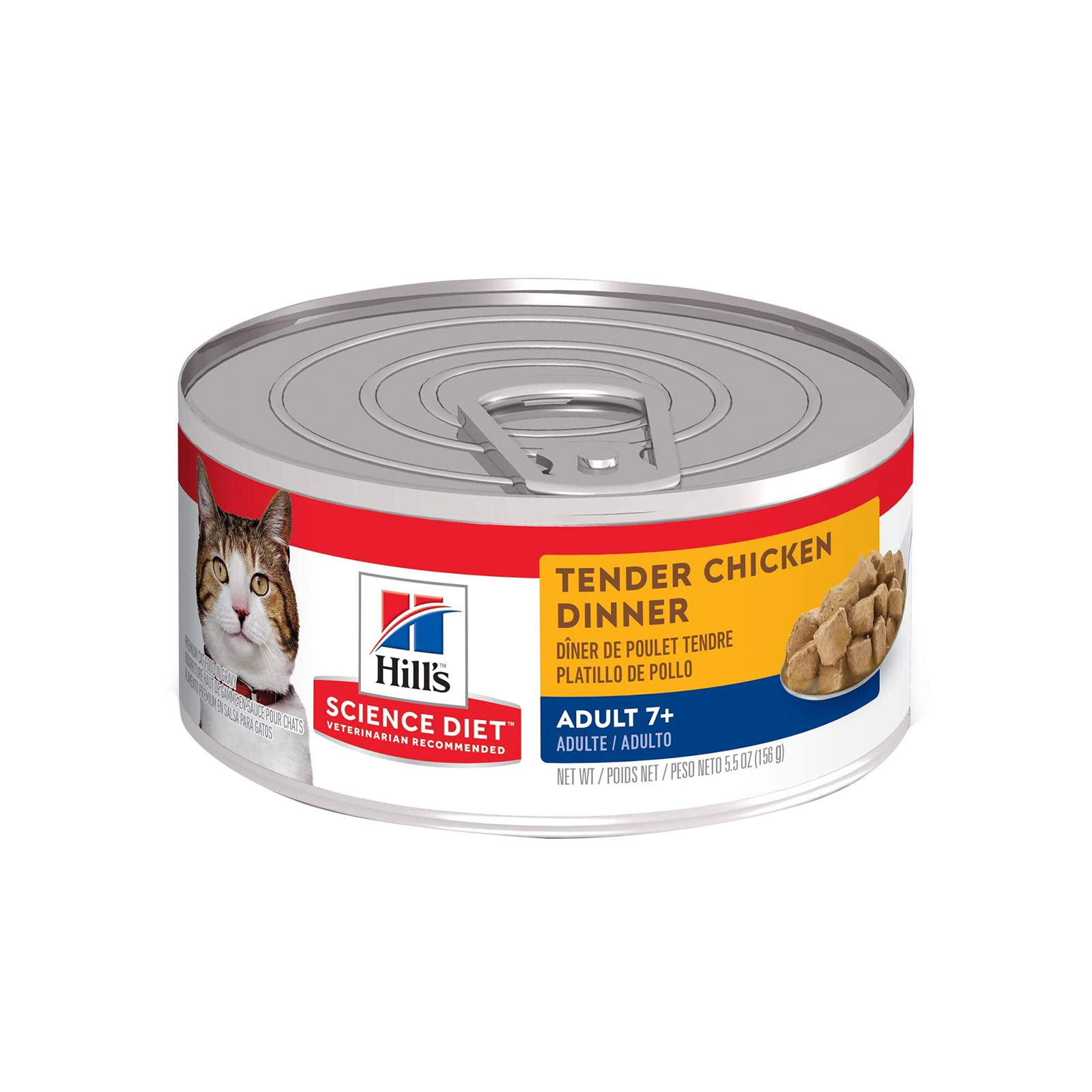 Hill's Science Diet Adult 7+ Tender Chicken Dinner Senior Canned Wet Cat Food  79 Gm