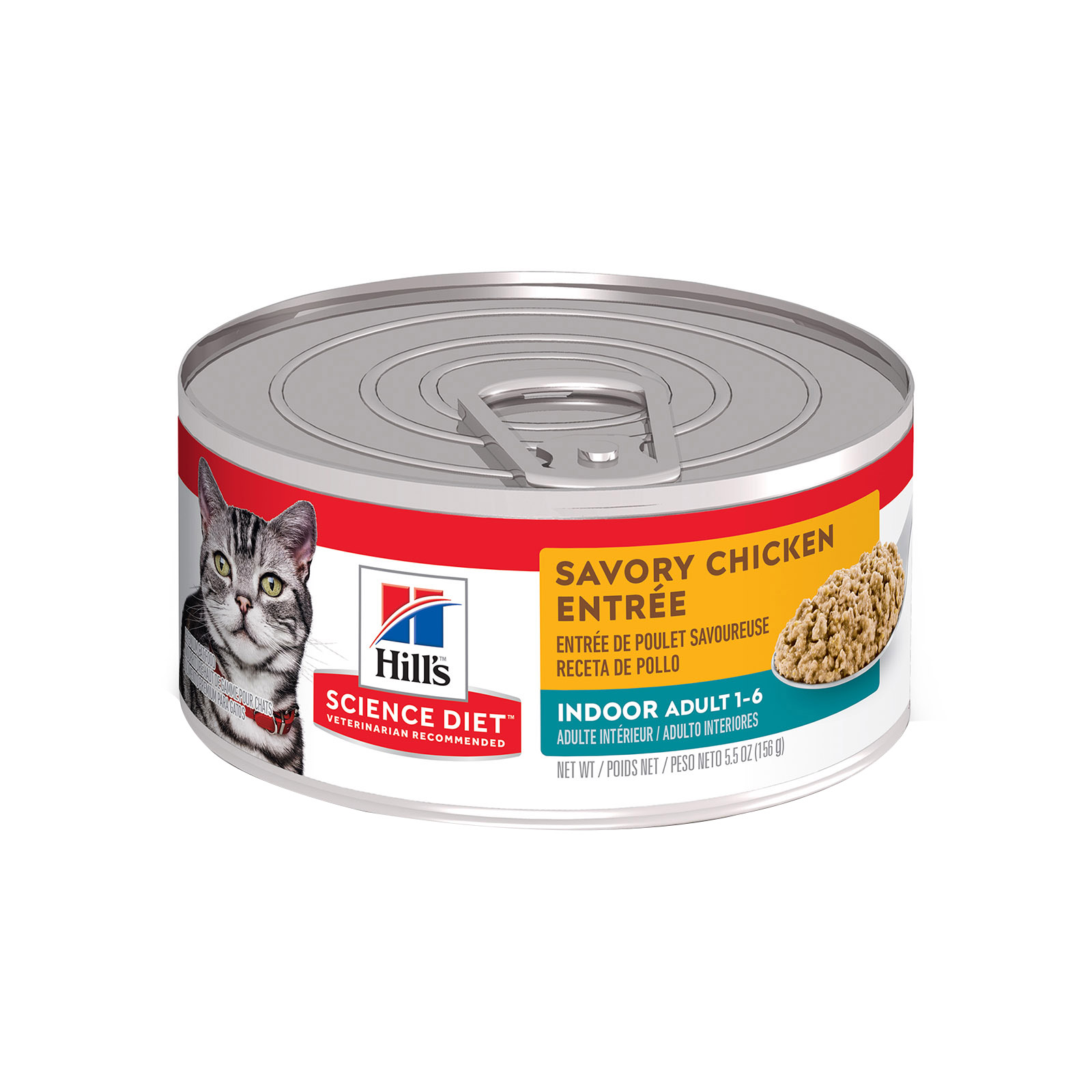 Hill's Science Diet Adult Indoor Savory Chicken Entrée Canned Wet Cat Food  156 Gm