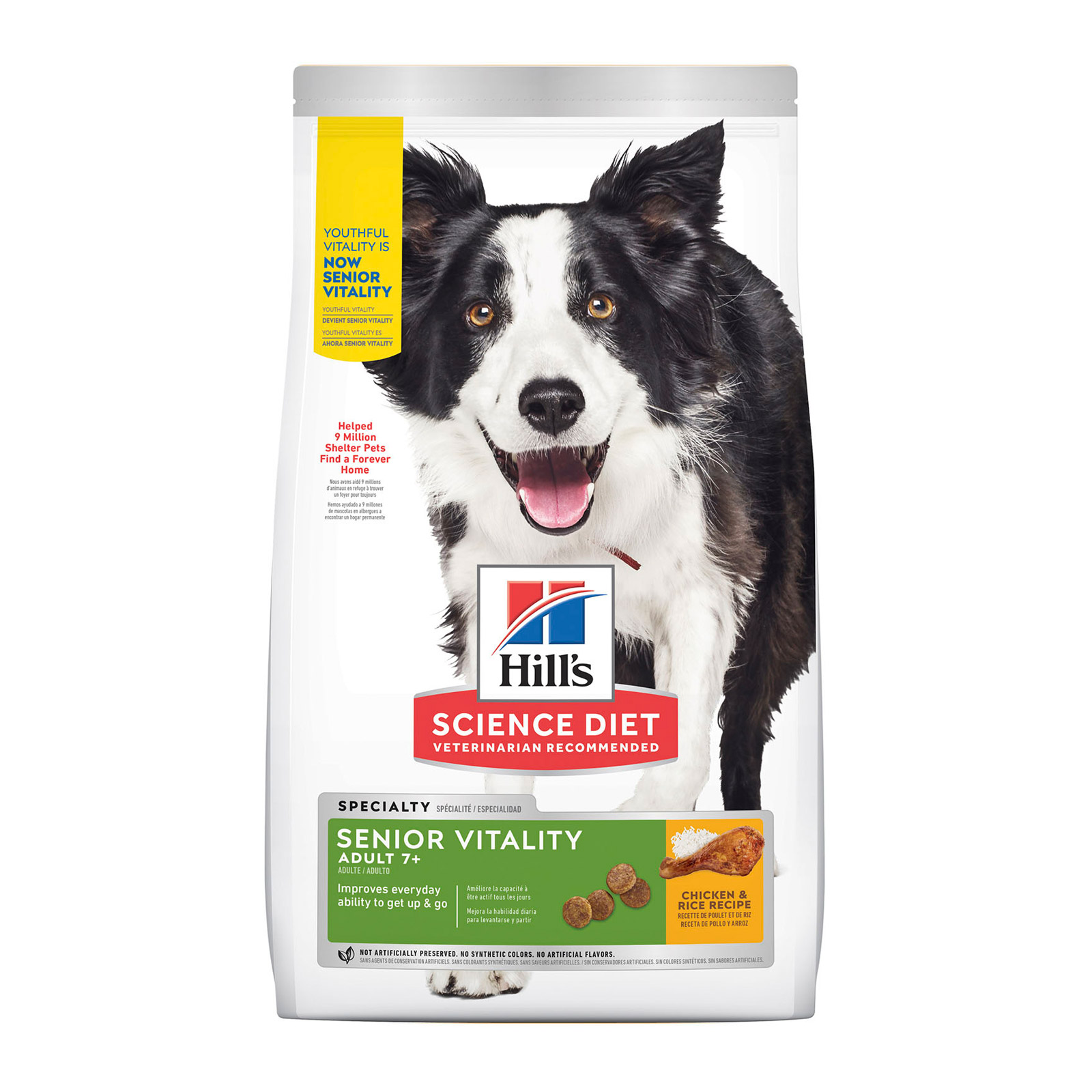 Hill's Science Diet Adult 7+ Youthful Vitality with Chicken & Rice Dry Dog Food