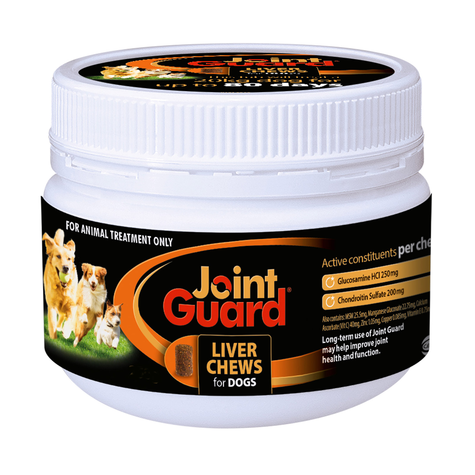 Joint Guard Liver Treat Chews for Canines 250 gm