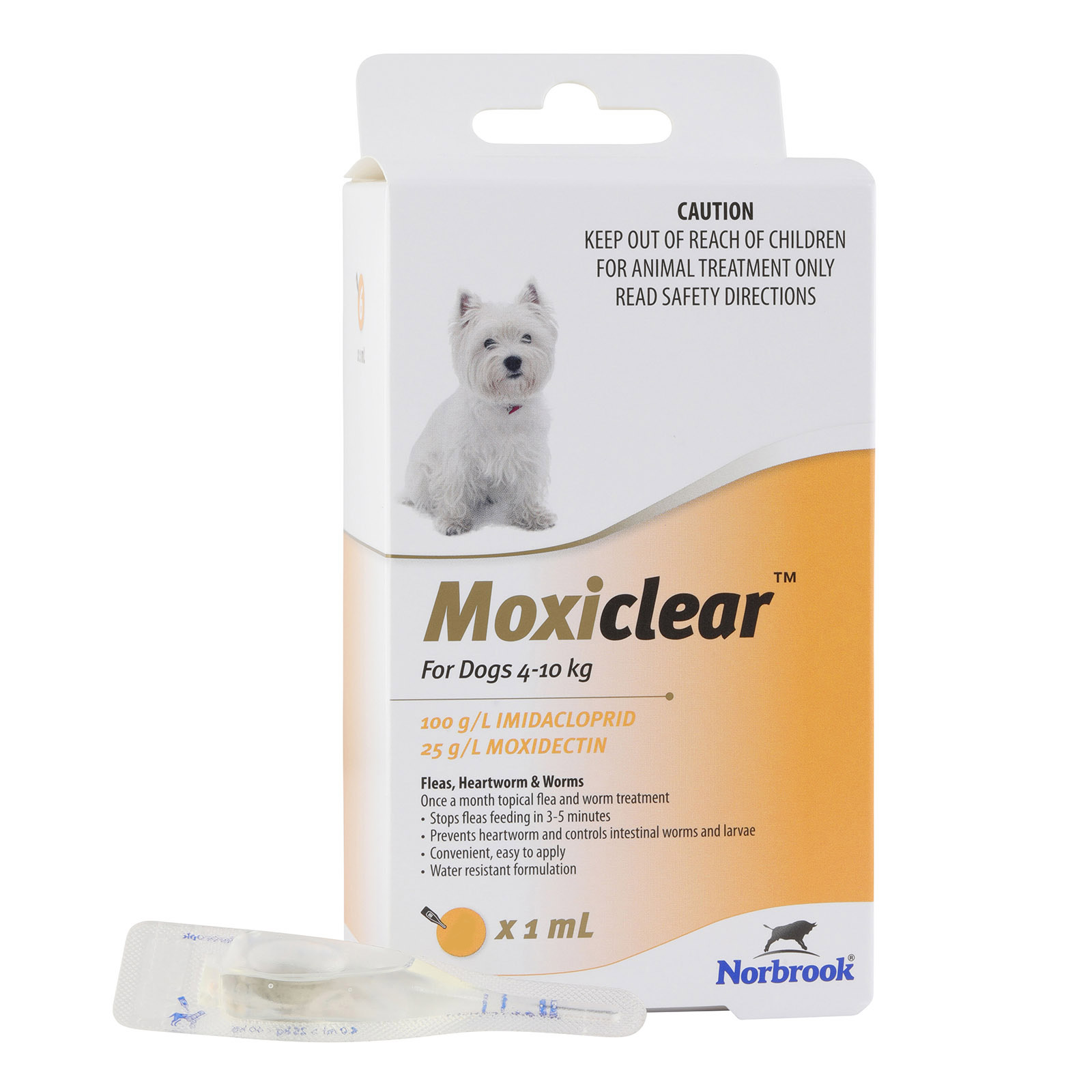 Moxiclear for Small Dogs 4-10 kg (Yellow)