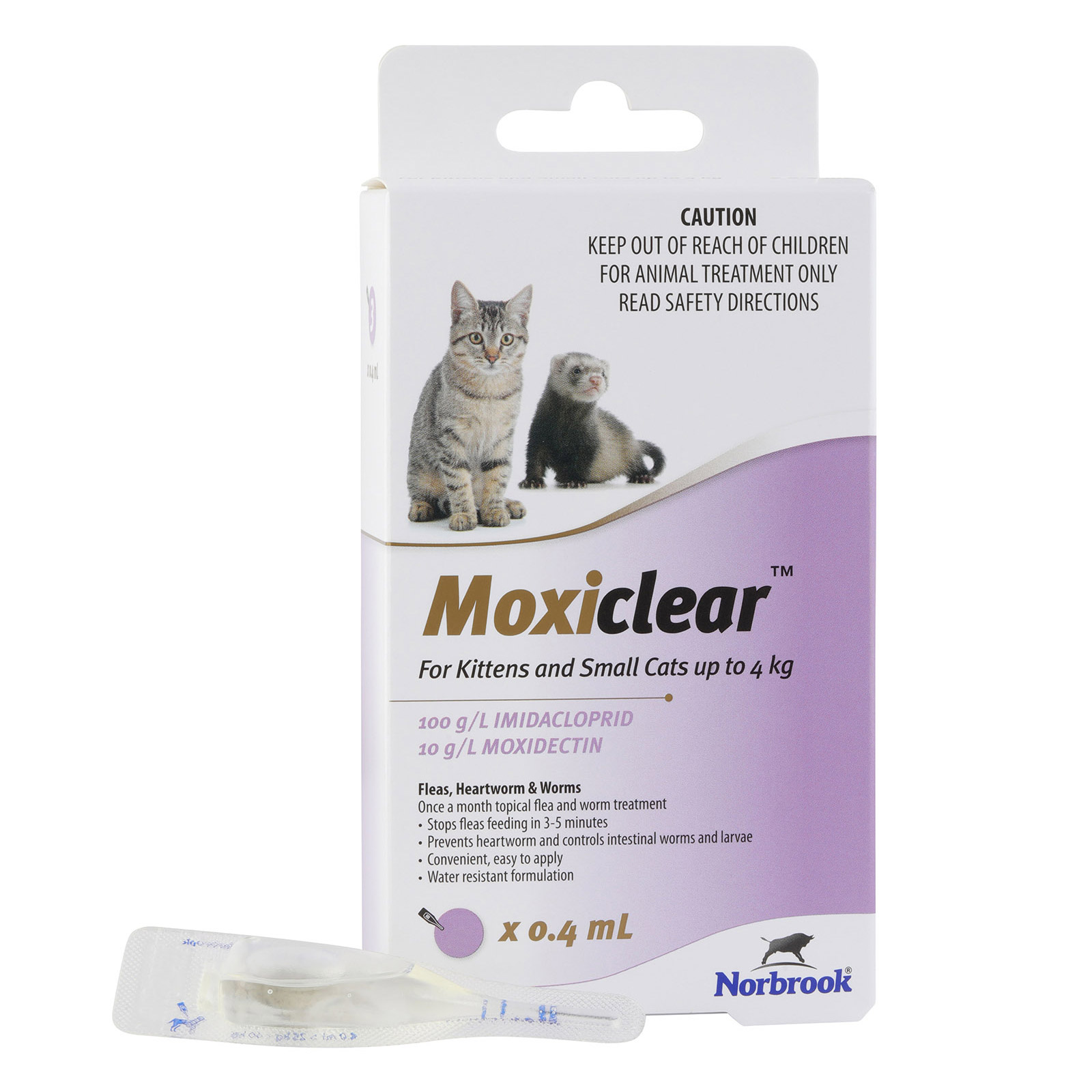 Moxiclear for Kittens and Small Cats Up To 4 kg (Purple)