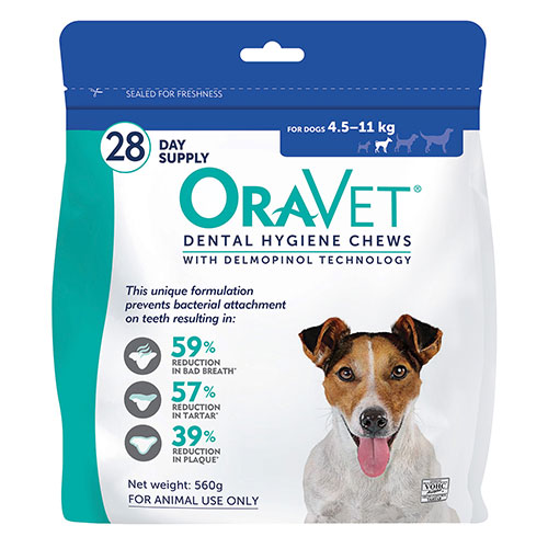 Oravet Dental Chews for Small Dogs 4.5-11 kg (3 Pieces) BLUE