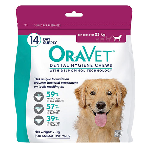 Oravet Dental Chews for Large Dogs Over 23 kg (3 Pieces) PINK