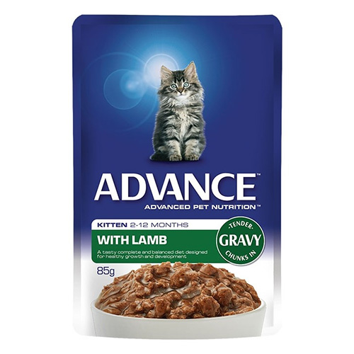 Advance Kitten Lamb in Gravy Cat Wet Food Pouch 85gmX12