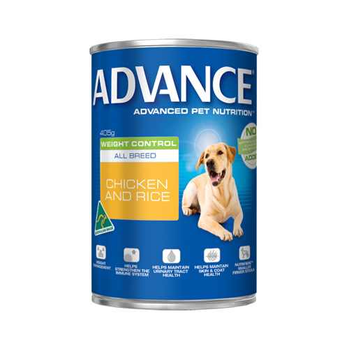 Advance Adult Dog Weight Control All Breed with Chicken & Rice Cans 405 Gm