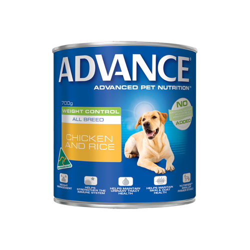 Advance Adult Dog Weight Control All Breed with Chicken & Rice Cans 700 Gm