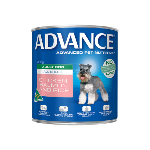 Advance Adult Dog All Breed with Chicken, Salmon & Rice Cans 700 gm