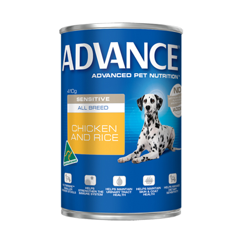 Advance Adult Dog Sensitive All Breed with Chicken & Rice Cans 410 Gm