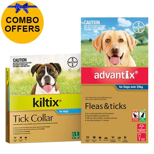 Advantix & Kiltix Combo for Extra Large Dogs over 25kg (Blue)