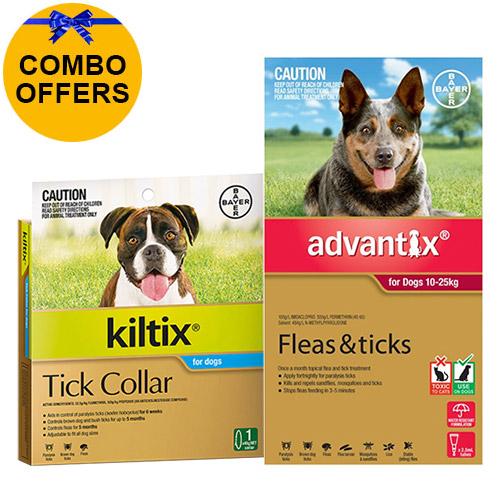 Advantix & Kiltix Combo for Large Dogs 10-25kg (Red)