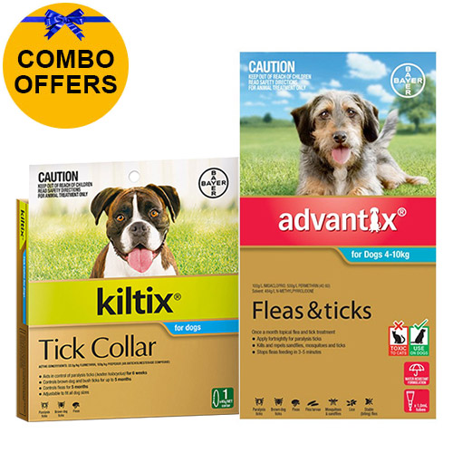Advantix & Kiltix Combo for Medium Dogs 4-10kg (Aqua)