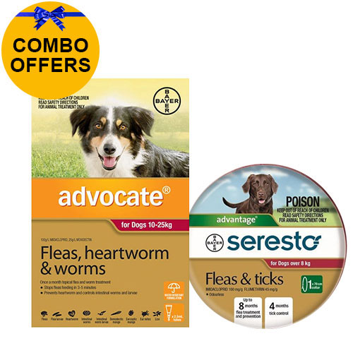 Advocate + Seresto Collar Combo Pack For Large Dogs 10-25kg (Red + Red)
