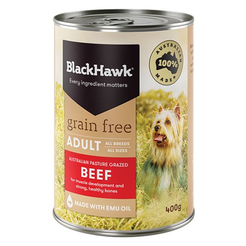 Black Hawk Grain Free Beef Canned Wet Dog Food  400 gm