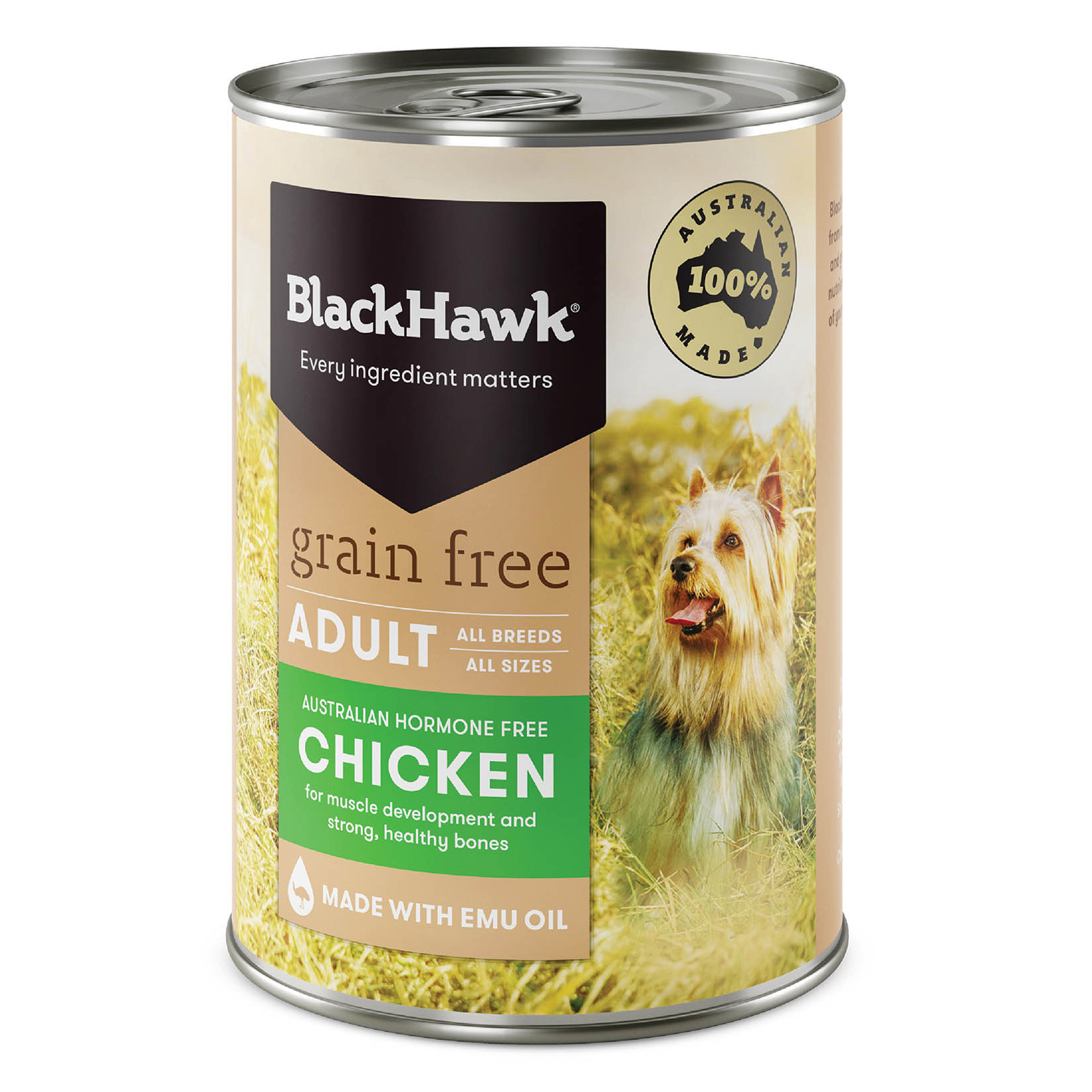 Black Hawk Grain Free Chicken Canned Wet Dog Food  400 gm