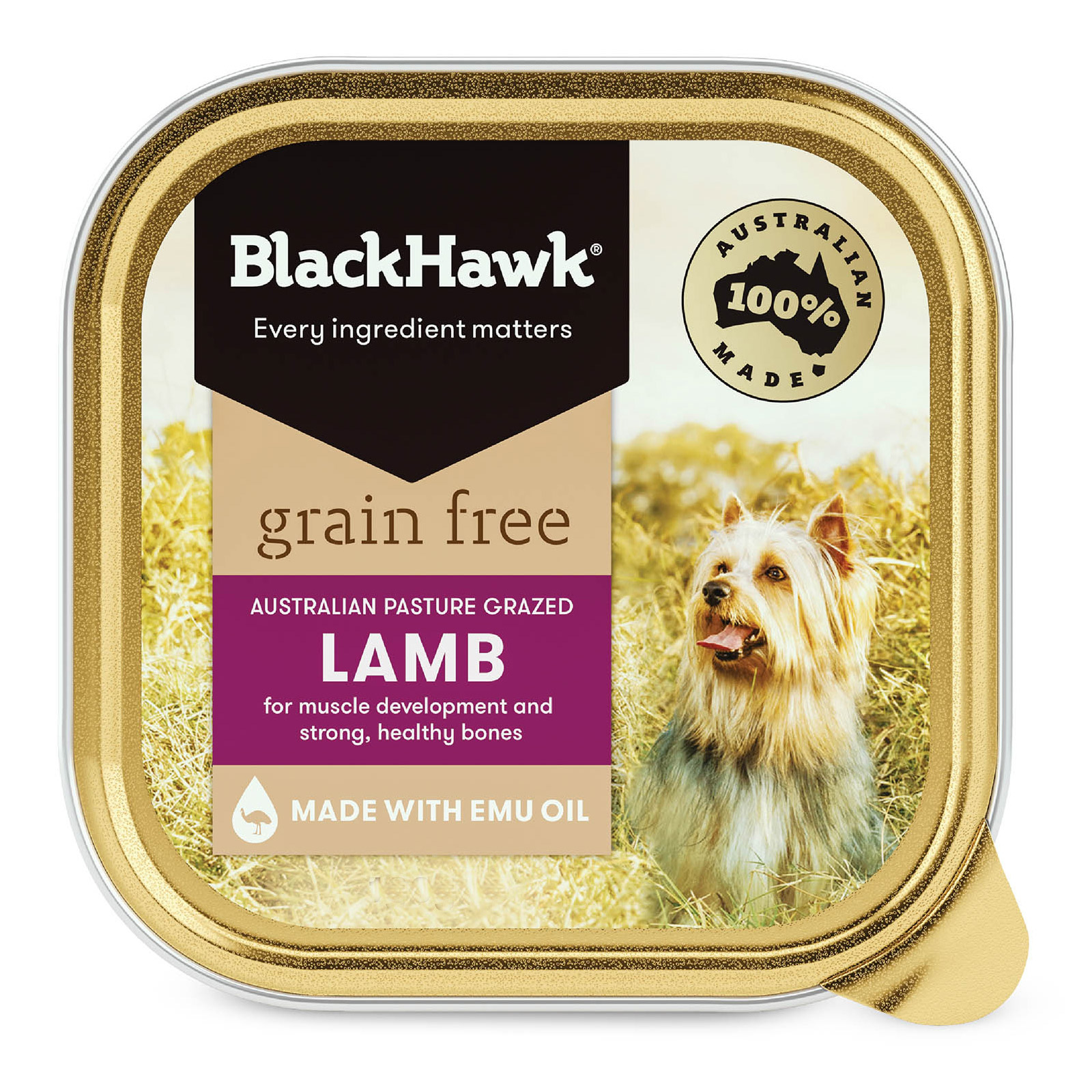 Black Hawk Grain Free Lamb Canned Wet Dog Food  100 gm