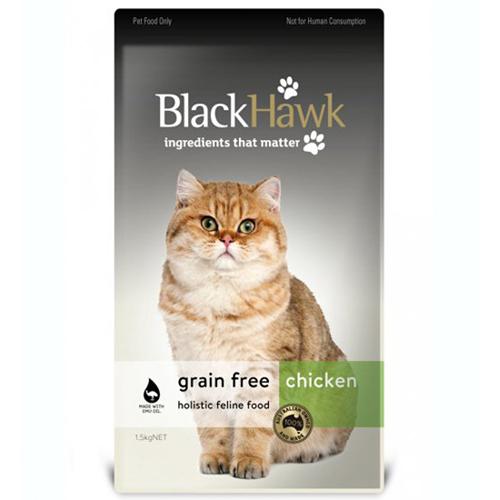 Black Hawk Grain Free Chicken Holistic Feline Dry 37 58