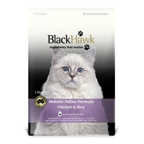 Black Hawk Feline Chicken & Rice Food