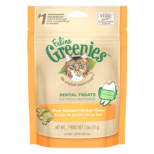 Greenies Feline Dental Treats Roasted Chicken Flavour for Cats 71 gms