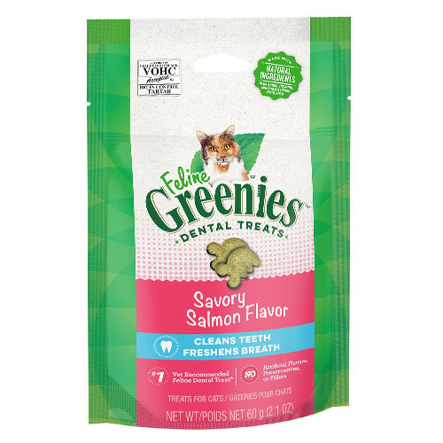 Greenies Feline Dental Treats Salmon Flavour for Cats 71 gms