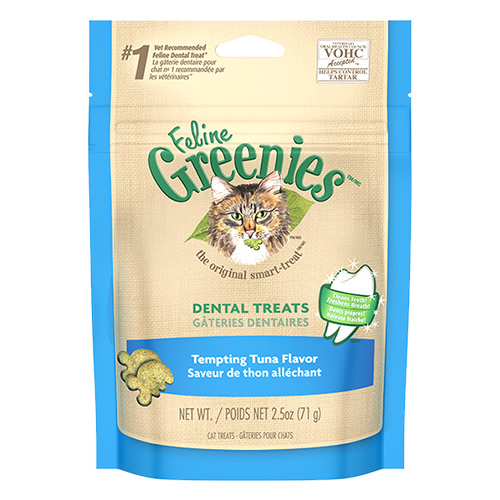 Greenies Feline Dental Treats Tuna Flavour for Cats 71 gms
