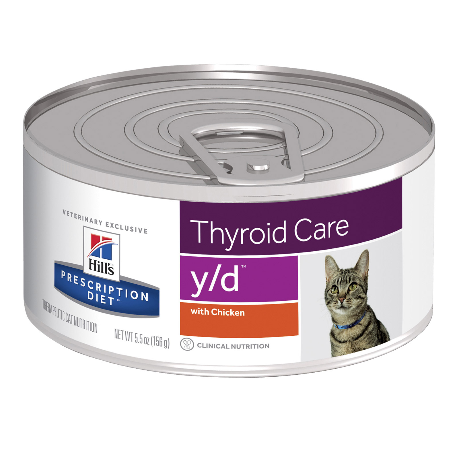 Hill's Prescription Diet Feline y/d Thyroid Care Chicken Cans 156 Gm
