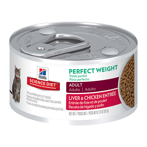 Hill's Science Diet Adult Perfect Weight Liver & Chicken Entrée Canned Cat Food 82 Gm