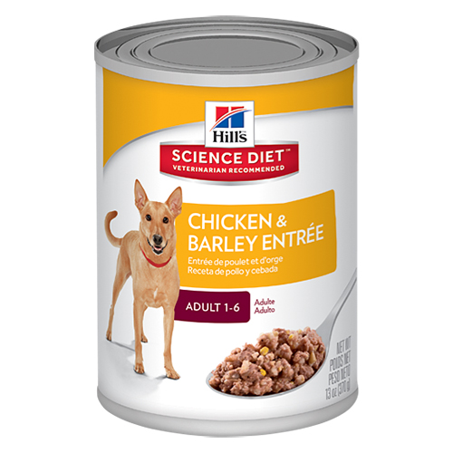 Hill's Science Diet Adult Chicken & Barley Entrée Canned Dog Food 370 Gm