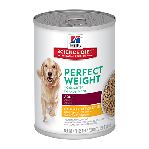 Hill's Science Diet Adult Perfect Weight Chicken & Vegetable  Entrée Canned Dog Food 363 gm