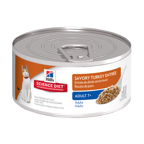 Hill's Science Diet Adult 7+ Savory Turkey Entrée Canned Cat Food  82 Gm