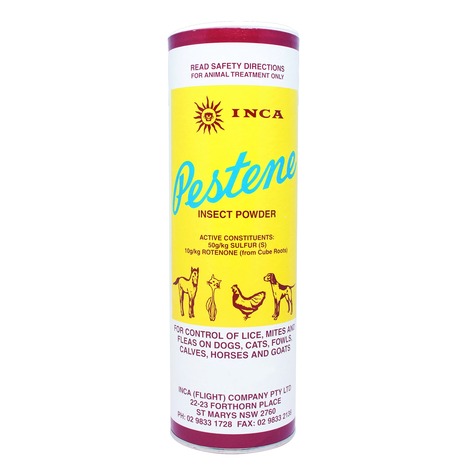 Inca Pestene Insect Powder for Fowls, Dogs, Cats, Horses and Goats