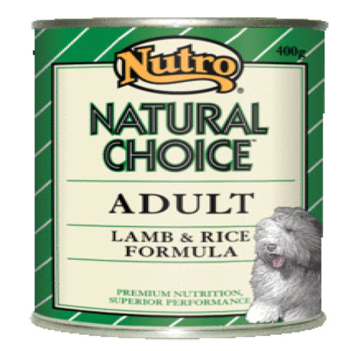 Nutro Natural Choice Adult Dog Cans Lamb and Rice Formula  400 Gm