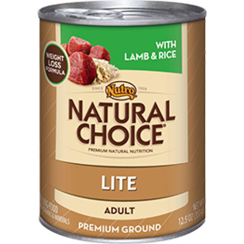 Nutro Natural Choice Adult Dog Lite Cans Lamb and Rice Formula 400 Gm