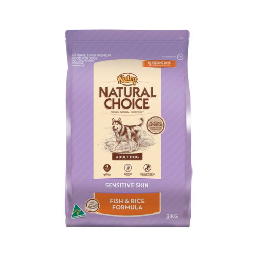 Nutro Natural Choice Adult Dog Sensitive Skin Fish & Rice Food