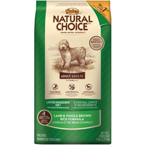 Nutro Natural Choice Adult Lamb & Rice Dog Food