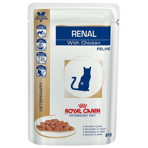 Royal Canin Feline Renal with Chicken Pouches 85 Gm