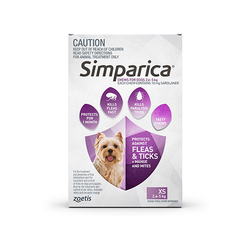 10MG for Very Small Dogs 2.5-5KG (PURPLE)