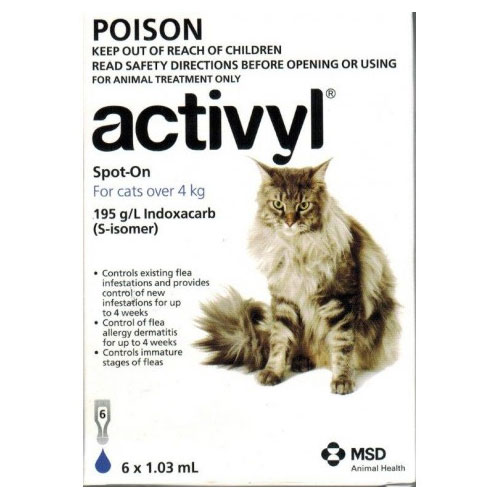 Activyl For Cat Over 4Kg (Dark Blue)