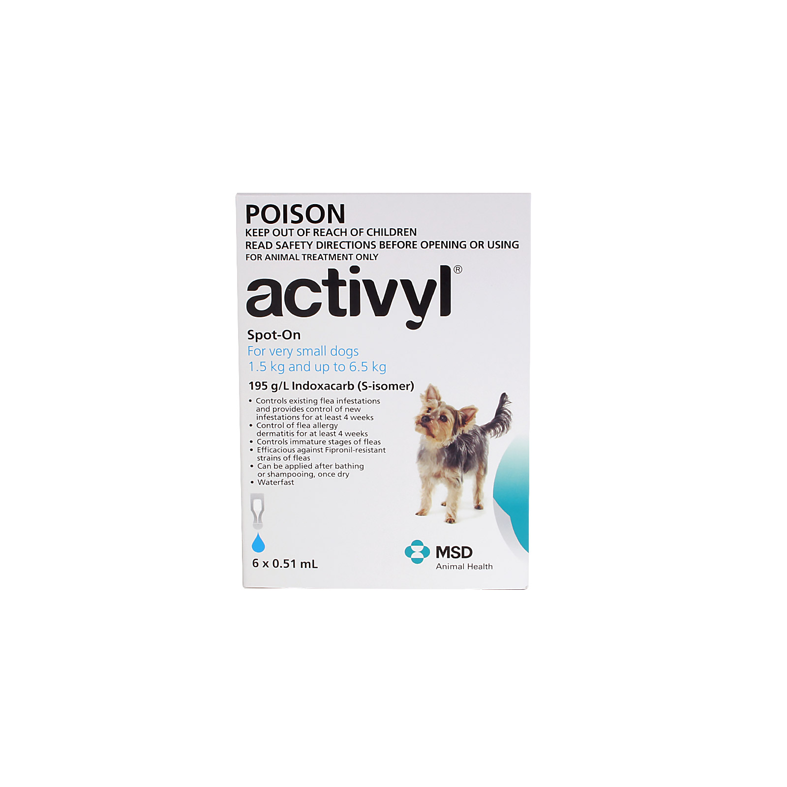Activyl For Extra Small Dogs 1.5-6.5Kg (Light Blue)