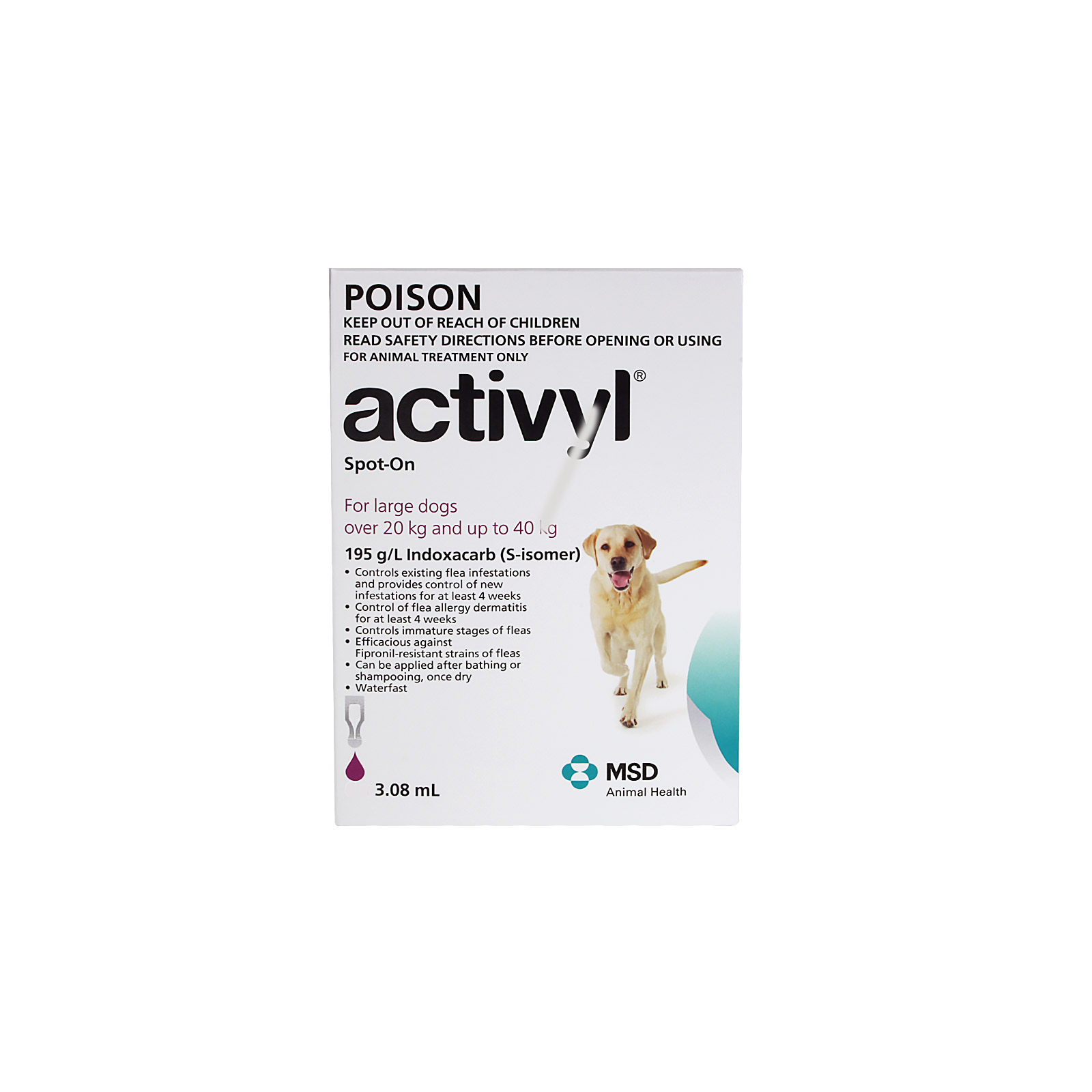 Activyl For Large Dogs 20-40Kg (Purple)