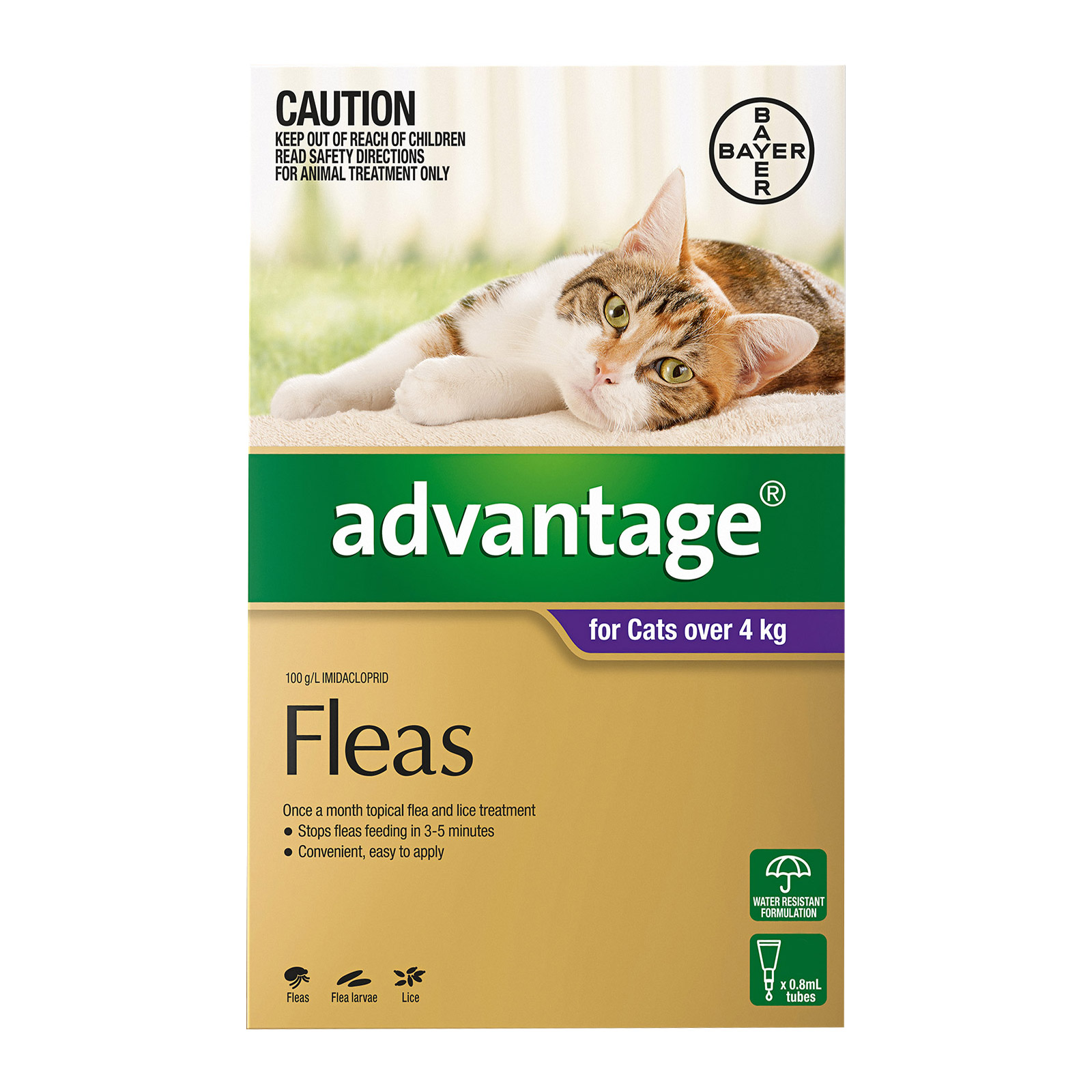 Advantage For Cats Over 4Kg (Purple)