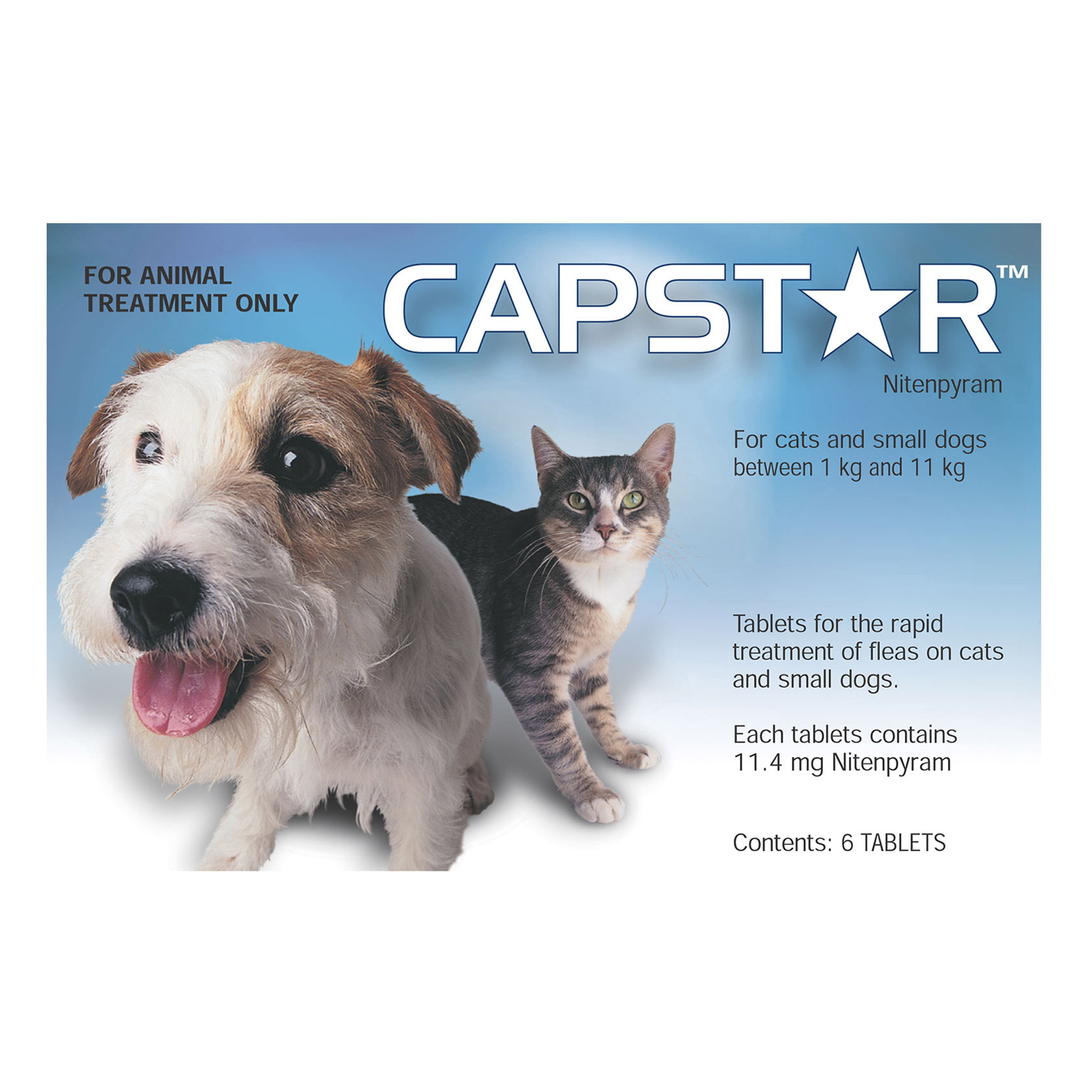 Capstar for Dogs For Cats And Small Dogs 0.5 To 11Kg (Blue)