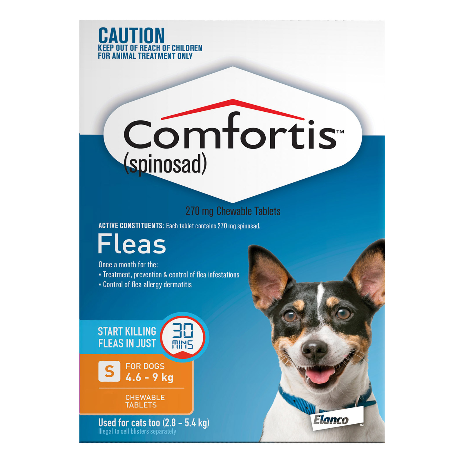Comfortis For Dogs 4.6 - 9 Kg (Orange)